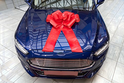 23 Large Red Magnetic Car Bow With 56 Ribbon Strings Huge Wow