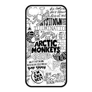 iPhone 4/4S Case, Arctic Monkeys Hard TPU Rubber Snap-on Case for iPhone 4 / 4S