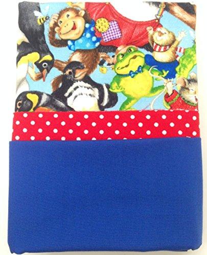 Home Sew Beautiful Novelty DIY Pillowcase Sewing Kit (Jungle Animals Red Polka Dots Cotton) - Sewing Pillowcase