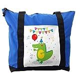 Lunarable Alligator Shoulder Bag, Happy Birthday Party Boy, Durable with Zipper