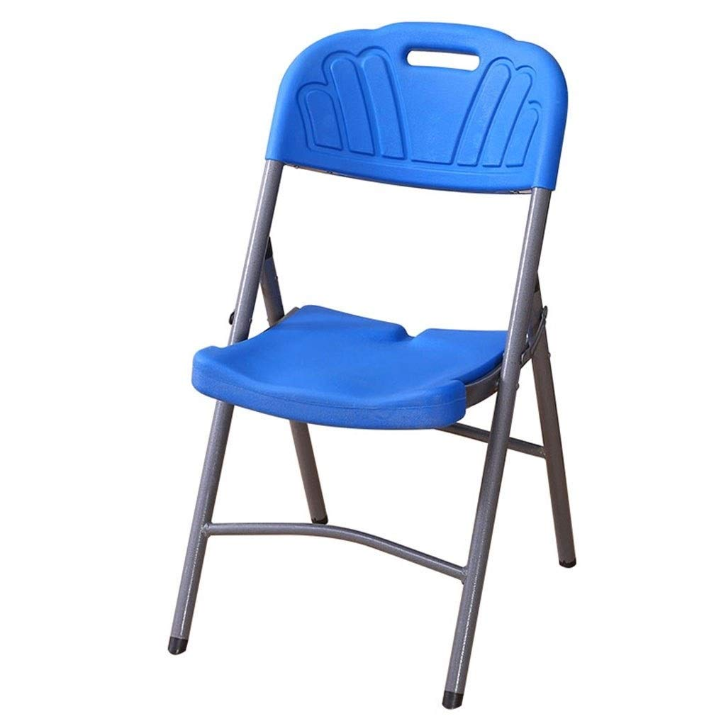 JKPA - Chairs Folding Chair Household Dining Chair Simple Chair Plastic Chairs Portable Office Meeting Chair Training Plastic Chair Stool ( color   A )