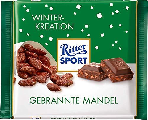 Ritter Sport Burnt Almond Chocolate Bar Candy Original German Chocolate 100g/3.52oz