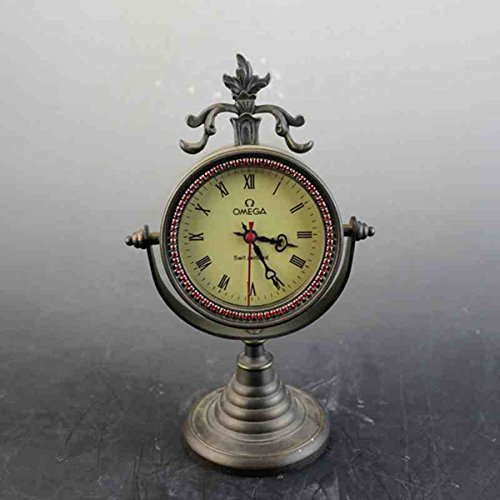 European Mechanics Desk clock Decoration alarm clock Antique copper watch by Sunmir