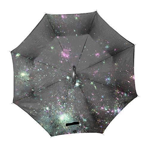 (Spots Shine Radiance Chaos Reverse Umbrella Sunscreen Creative Auto Sun Umbrella)