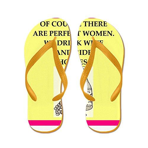 CafePress Equestrian - Flip Flops, Funny Thong Sandals, Beach Sandals Orange