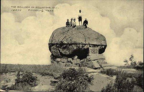 Rollstone Hill (The Boulder of Rollstone Hill Fitchburg, Massachusetts Original Vintage Postcard)
