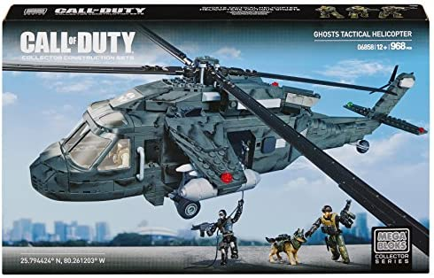 Amazon Com Mega Bloks Call Of Duty Ghosts Tactical Helicopter Toys Games