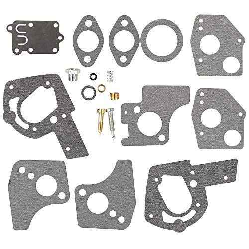 Venseri 495606 494624 Carburetor Overhaul Repair Rebuild Kit fits Briggs & Stratton Pulsa Jet Carb 80200 81200 82200 3 Thru 5 HP Horizontal Engines (Briggs And Stratton 3-5 Hp Carburetor Rebuild)