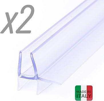 Iegar - 2 piezas - Junta de 100 cm transparente para bajo la puerta - Perfil de doble aleta -