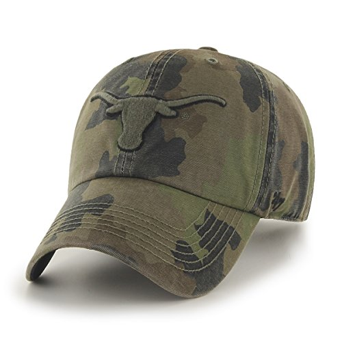 '47 NCAA University of Texas Embroidered Camo Relaxed Cap Brand ()