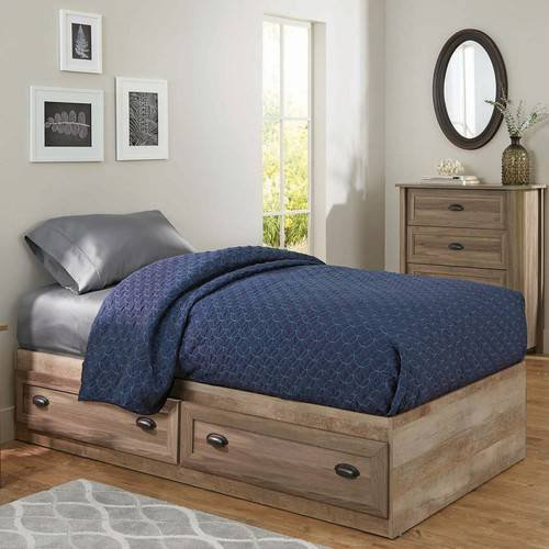 - Mates Bed in Washed Oak Finish, Storage Space, Kid's Room, Bedroom Furniture, Made from Engineered Wood, Laminate Finish, 2 Drawers, Bundle with Our Expert Guide with Tips for Home Arrangement