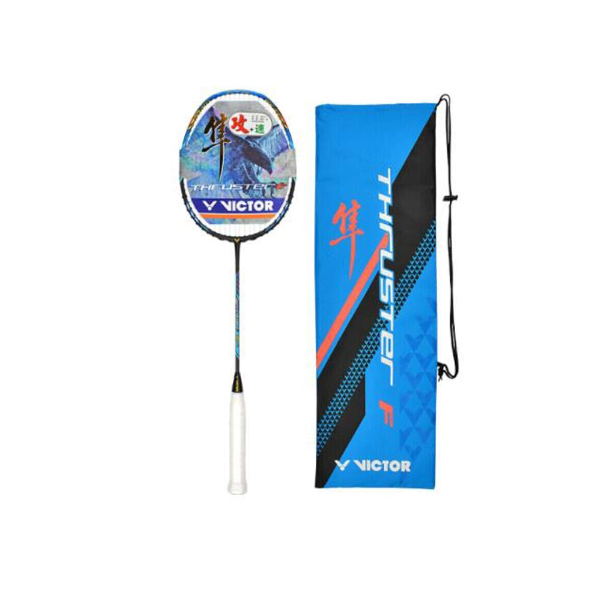 Tongboshi Badminton Racket, Offensive Full Carbon Badminton Racket, Single Shot TK-F隼4U (Professional Player Racket) Badminton Racket, (Design : 4U)