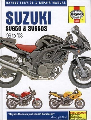 Suzuki: SV650 & SV650S 99-08 (Haynes Service & Repair Manual): Haynes, Max:  9781844257676: Amazon.com: BooksAmazon.com