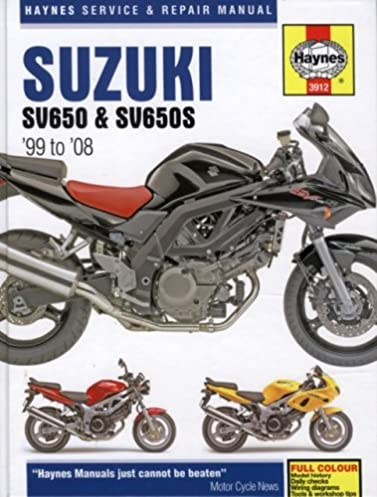suzuki sv650 sv650s 99 08 haynes service repair manual max rh amazon com 2003 suzuki sv650s service manual pdf 2003 sv650 repair manual