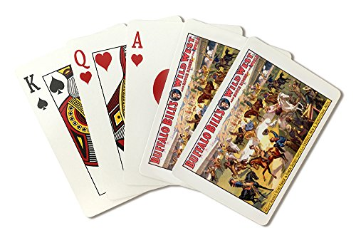 - Buffalo Bill's Wild West - Range and Ranch Saddle - Horses Vintage Poster USA (Playing Card Deck - 52 Card Poker Size with Jokers)