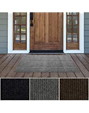 iCustomRug Spartan Weather Warrior Duty Indoor/Outdoor Utility Ribbed in 3ft,4ft,6ft Widths 70 Custom Sizes with Natural Non-Slip Rubber Backing