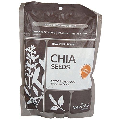 Navitas Naturals органического сырья Чиа Семена, 1 фунт сумки