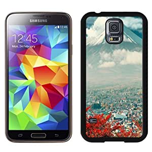NEW Unique Custom Designed Samsung Galaxy S5 I9600 G900a G900v G900p G900t G900w Phone Case With Mount Fuji Japan City_Black Phone Case