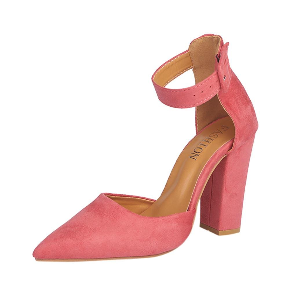 OVERDOSE,Chaussures Pointues High Pointure Large à Talons à Rose Hauts Sexy Femme Sandales High Heels Rose b983a70 - fast-weightloss-diet.space