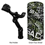 YakAttack Omega or Omega Pro Rod Holder with Track Mounted LockNLoad Mounting System for Kayak Fishing (FREE face Shield $9.95 Value) (Omega Pro, Freshwater Chaos) For Sale