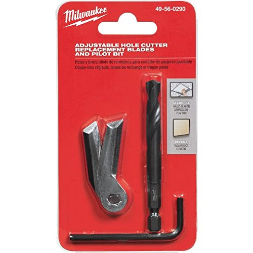 Milwaukee 49-56-0290 Adjustable Hole Cutter Replacement Blades and Pilot Bit