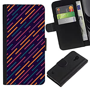 KingStore / Leather Etui en cuir / Samsung Galaxy S4 IV I9500 / Muster