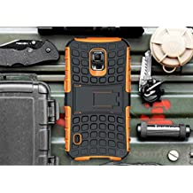 Galaxy S5 Active Case, Cocomii Grenade Armor NEW [Heavy Duty] Premium Tactical Grip Kickstand Shockproof Hard Bumper Shell [Military Defender] Full Body Dual Layer Rugged Cover Samsung G870 (Orange)