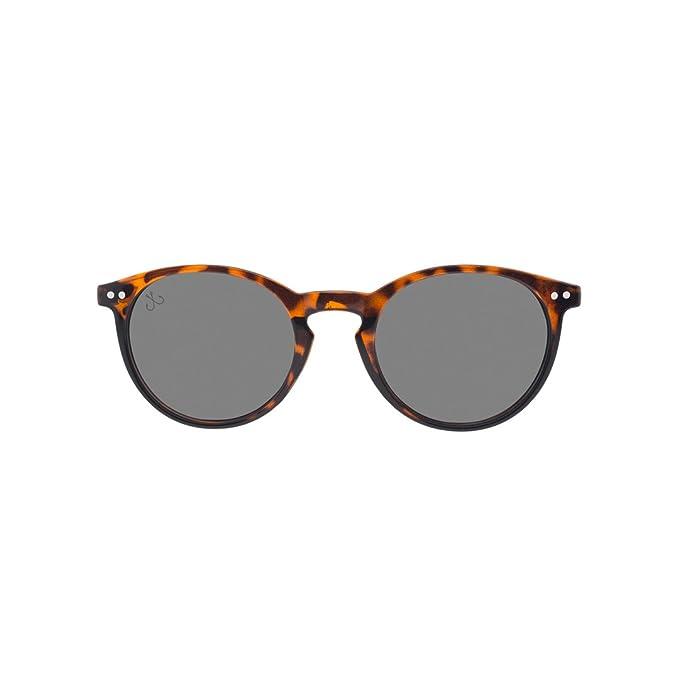 HOOK Gafas de Sol Unisex Carey Lente Negra UV400 Protección ...