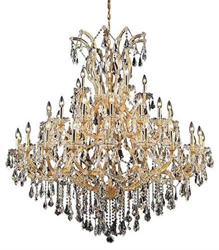 Karla Gold Traditional 41-Light Grand Chandelier Heirloom Handcut Crystal in Crystal (Clear)-2381G52G-RC--24