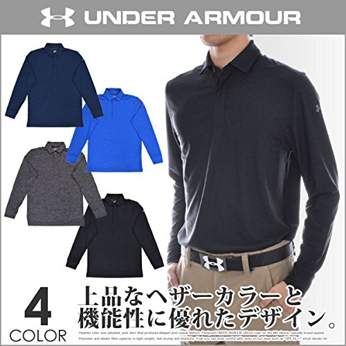 アンダーアーマー プレイオフ 長袖ポロシャツ ネイビー XXL