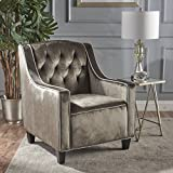 Christopher Knight Home 302066 Giada-Ckh Arm Chair, Horizon Grey/Dark Brown