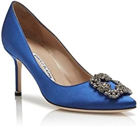 ed7aaeaaeb5 Manolo Blahnik Hangisi 70mm Pump - Blue