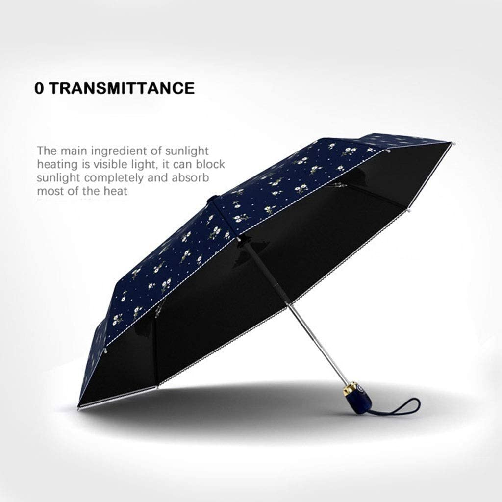 WMS Automatic Folding Sun Umbrella Ladies Umbrella Floral Style 8K Aluminum Alloy Windproof Christmas Girl Gift