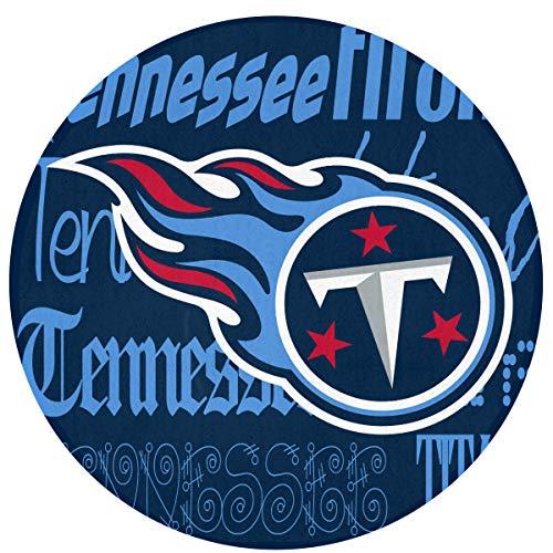 - Weckim Tennessee Titans Non-Skid Lock Water Quick-Drying Door Mat Floor Mat, Fadeless, Circular Mat Diameter 23.62