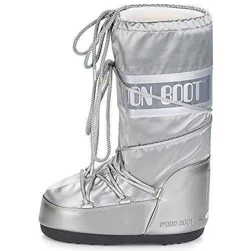 Adulto Stivali Unisex Argento Glance Boot Moon Boot nxvxw