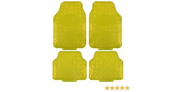 eSituro Alfombrillas para Coche Universal Alfombras Moqueta para Automovil Antideslizantes Impermeable 4 Piezas Alfombra Negro SCM0083