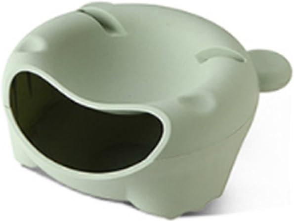 Bol para Frutas de pl/ástico redondo con caja de almacenaje color verde XD Panda