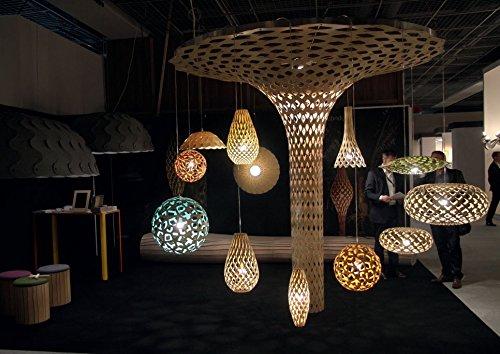 Coral Leuchte - moderne LED Designer Hängeleuchte, exklusive Designleuchte  aus Bambus, Lampe Wohnzimmer, Gastronomie, Hotel, E14