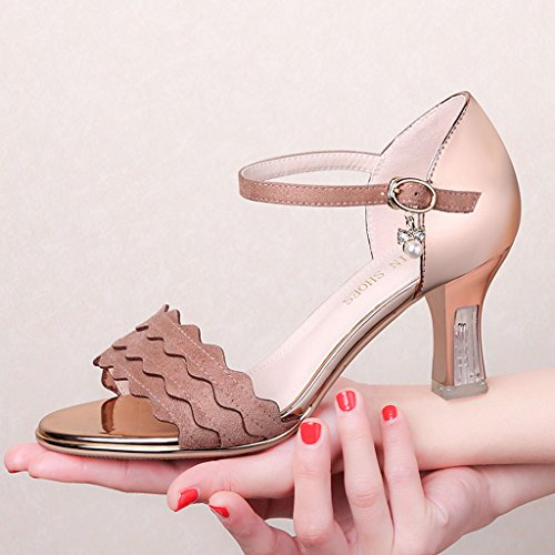 Helen La parola di estate degli alti talloni con i sandali piani delle donne dei pattini piani delle donne dei pattini fioriscono le donne (giallo) ( dimensioni : 35 yards )