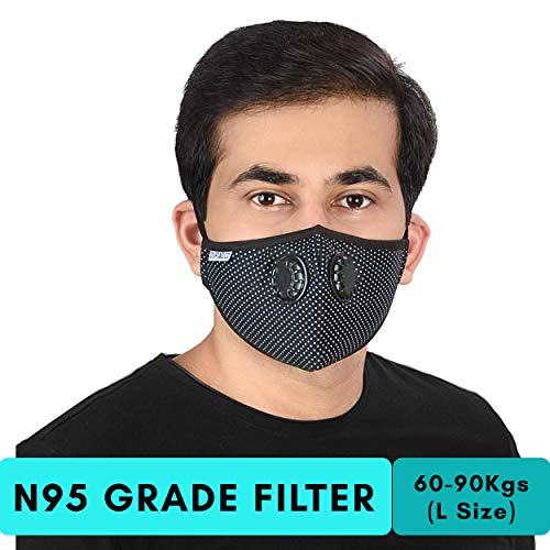 With Onroad Range Gris - ideal Series Filter Kg Large New Pollution Mask Weight Anti 60-90 Reusable Co N95 For Grade