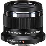 Olympus M.Zuiko Digital 45mm F1.8 Lens, for Micro Four Thirds Cameras (Black)