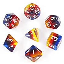Polyhedral Dice Sets Dnd Gmaing Dnd for D&D Dungeons & Dragons Role Playing Gaming Dice with Velvet Bags