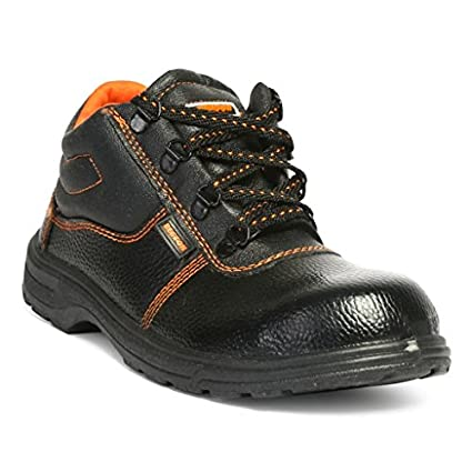 Hillson Beston Safety Shoe, Size-7 UK, Black
