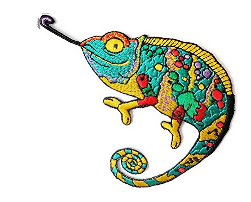 Chameleon Gecko Lizard Iron on Patch Embroidered Sewing for T-shirt, Hat, Jean ,Jacket, Backpacks, - Gucci Australia Office Head