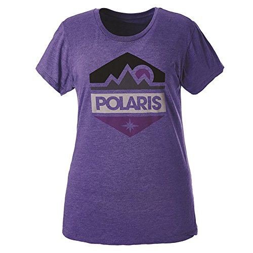 Polaris OEM Women's Hex Classic Blend Athletic Fitted Tee Short Sleeve T-Shirt - Purple - Medium