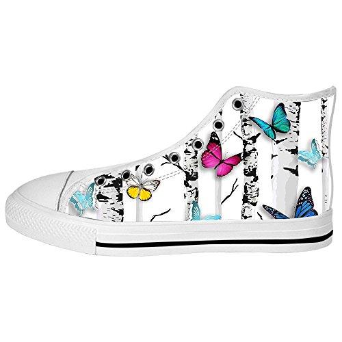 De Salida Con Tarjeta De Crédito Custom Colore Flying Butterfly Womens Canvas shoes I lacci delle scarpe scarpe scarpe da ginnastica Alto tetto Tienda De Descuento En Venta Comprar Nueva Llegada Barato Auténtica En Venta Nueva Barata 55N8J