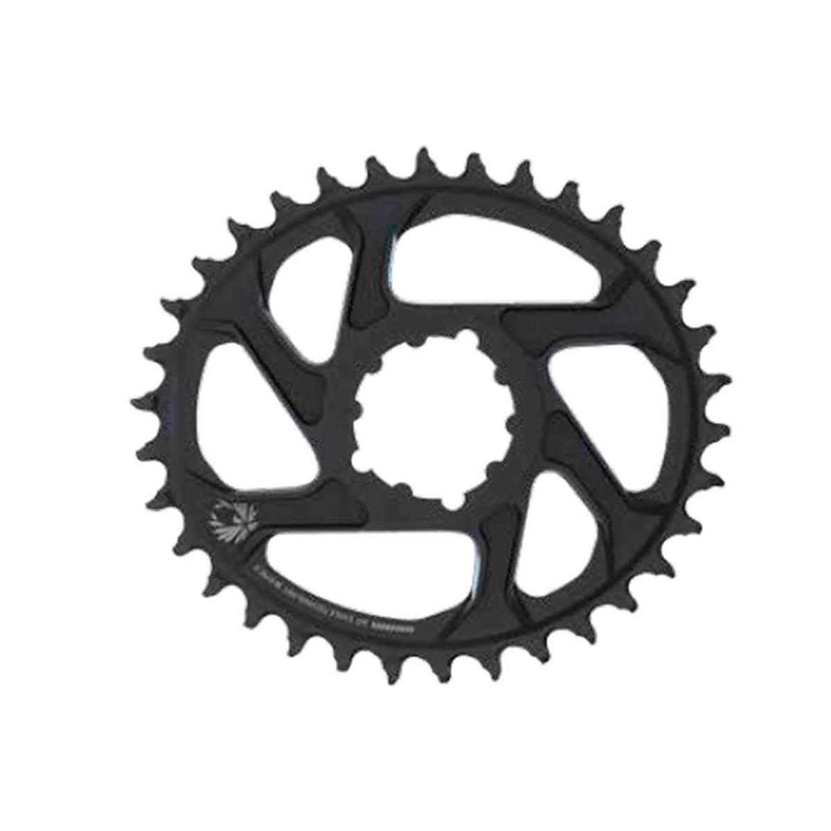 SRAM x-sync 2 Eagle 12-speed Direct Mount Oval Chainring – Boost B073S3QZ2R 38T/3mm Offset|ブラック ブラック 38T/3mm Offset