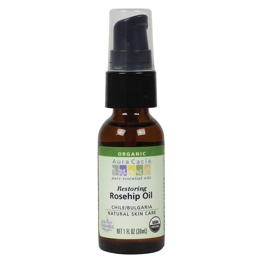 Aura Cacia Organic Skin Care Oil - Restoring Rosehip Oil with Vitamin E, 1 Fl. Oz. Skin Care Products