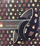 Flames Emoji Icon Printed Black Fatheads Folding Stereo Headphones