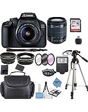 $399 » Canon EOS 4000D Digital SLR Camera w/ 18-55MM DC III Lens Kit (Black) with Accessory Bundle, Package Includes: SanDisk 32GB Card + DSLR Bag + 50'' Tripod+TOPKNOTCH Deals Cloth(International Model)